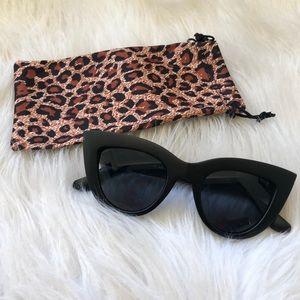 Accessories - Matte Black Cat Eye Boutique Shades